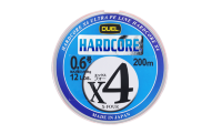 Леска плетеная Duel PE 'HARDCORE X4 200m #0.6 5.4Kg (0.132mm)- 5 Color