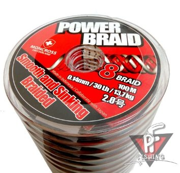 ПЛЕТЕНЫЙ ШНУР MONCROSS POWER BRAID X8 #1.5-100М., ЦВЕТ ЖЕЛТЫЙ