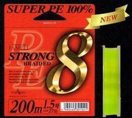 Леска плетеная Yamatoyo Super PE Strong 8 Braid - 1.0PE -200m