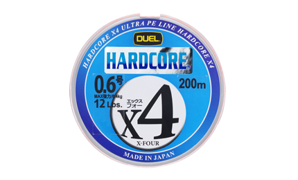Леска плетеная Duel PE 'HARDCORE X4 200m #0.6 5.4Kg (0.132mm)- Green