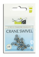 Вертлюжки DreamFish Crane Swivel #1 6 шт/уп