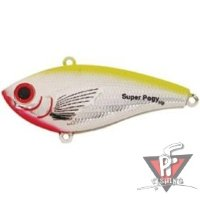 """Bomber""  BSWSPL3 340 ""Super Pogy"" (8,9см 35гр. Sinking) Chrome/Chartreuse Bck"