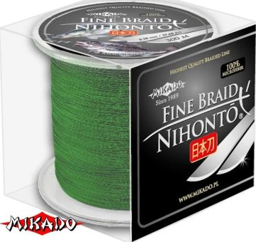 Плетеный шнур Mikado Nihonto Fine Braid 0,40 green (300 м)